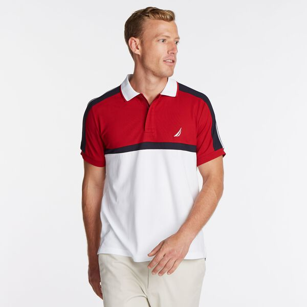 BIG & TALL COLORBLOCK NAVTECH POLO - Nautica Red