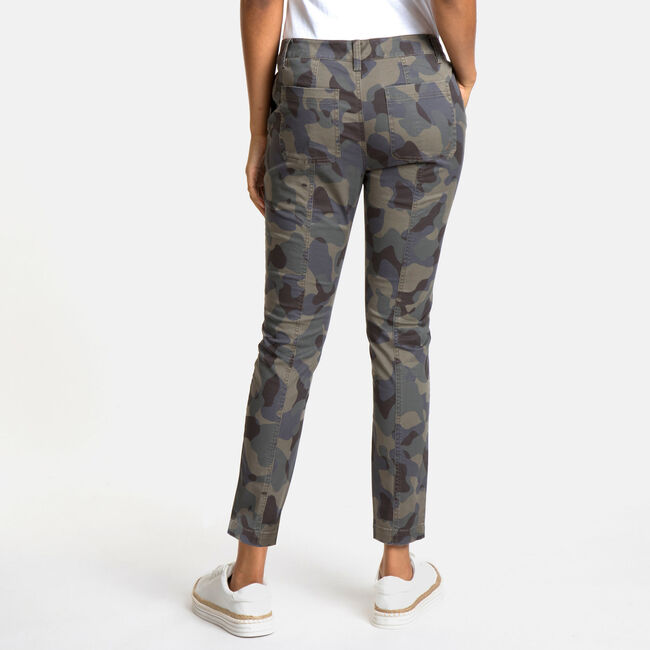 Army Camo Twill Skinny Pants,Patina,large