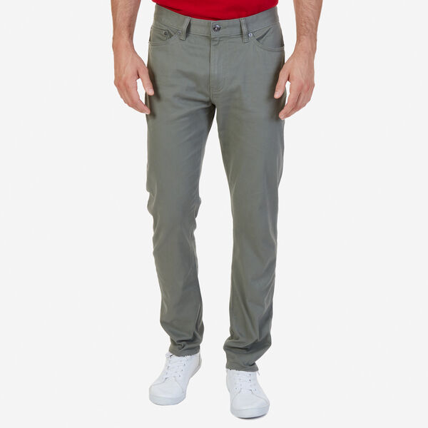 SLIM FIT STRETCH 5-POCKET PANTS - Hillside Olive