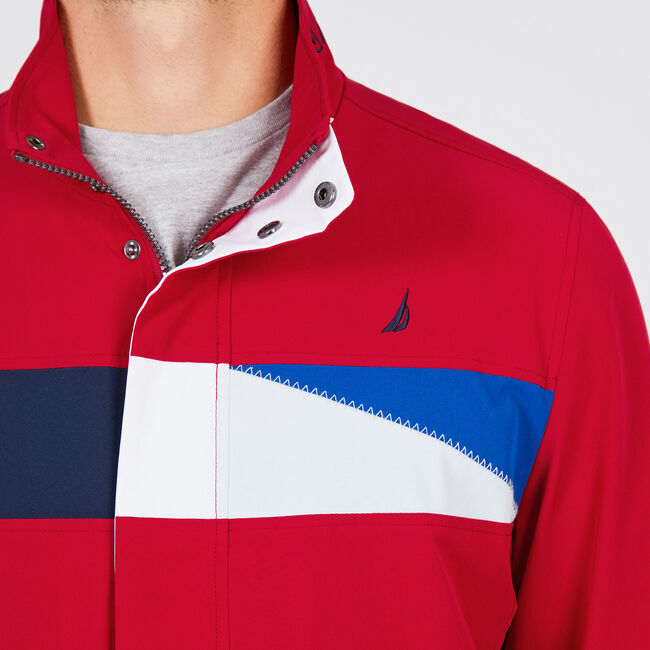Water Resistant Signal Flag Jacket,Nautica Red,large