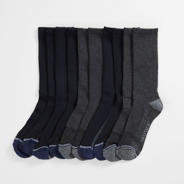 ATHLETIC CREW SOCKS, 5-PACK - Black