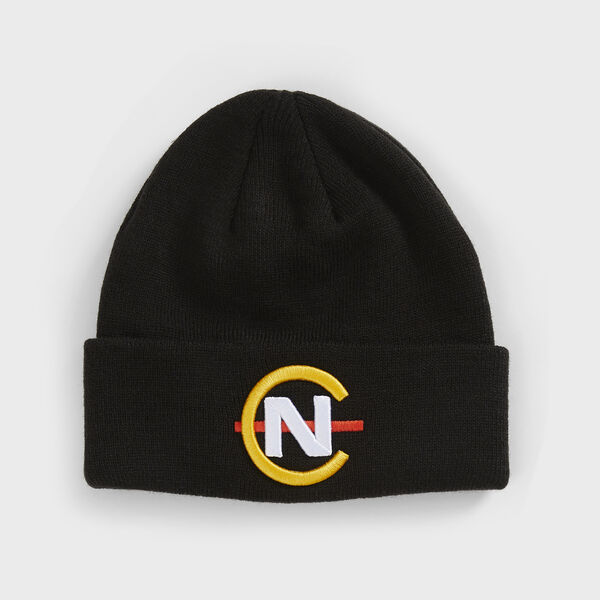 COMPETITION RIBBED-KNIT LOGO BEANIE - True Black