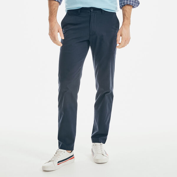 SLIM FIT PERFORMANCE TWILL PANTS - Navy