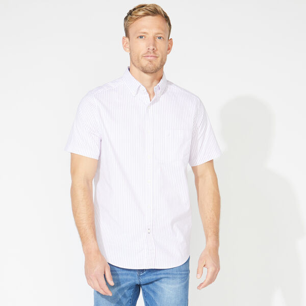 CLASSIC FIT SHORT SLEEVE STRIPED OXFORD SHIRT - Pink Passion