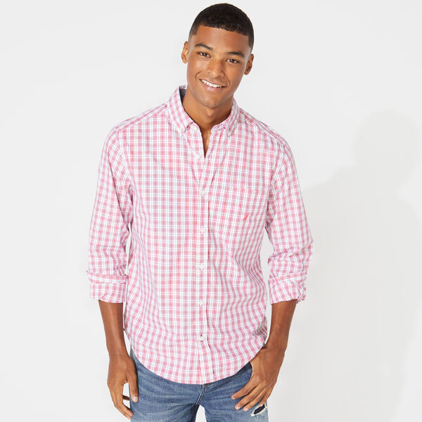 CLASSIC FIT PLAID SHIRT - Persian Red