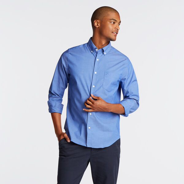 Long Sleeve Classic Fit Solid Wrinkle-Resistant Shirt - French Blue