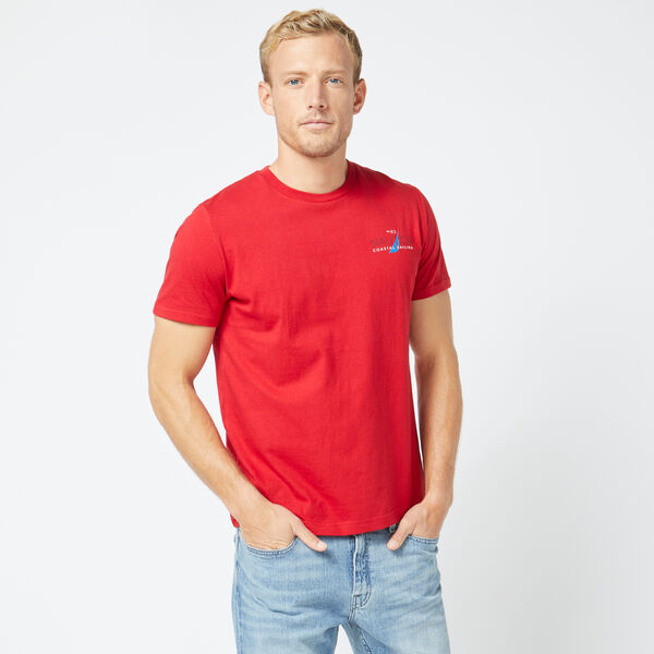 COASTAL SAILING GRAPHIC CREWNECK TEE - Nautica Red