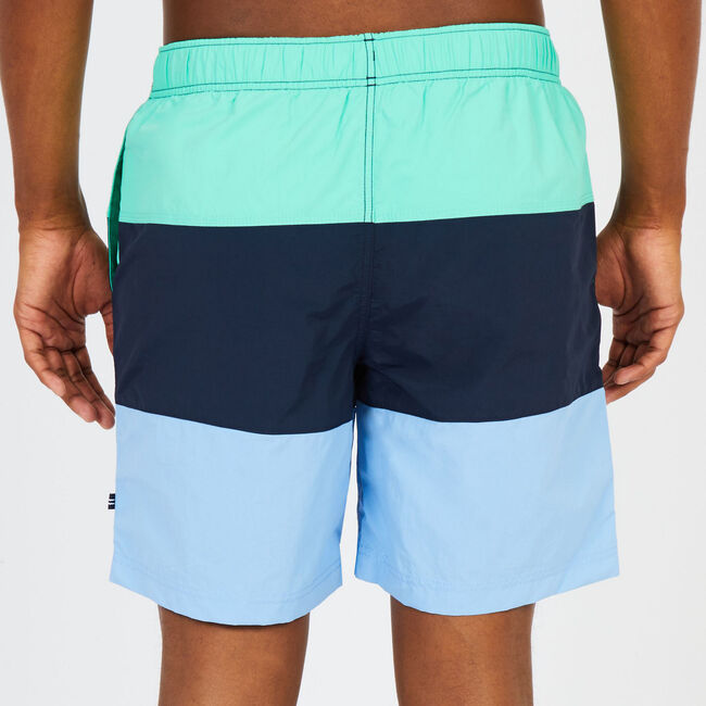 "8"" SWIM SHORT IN COLORBLOCK,Mist Green,large"