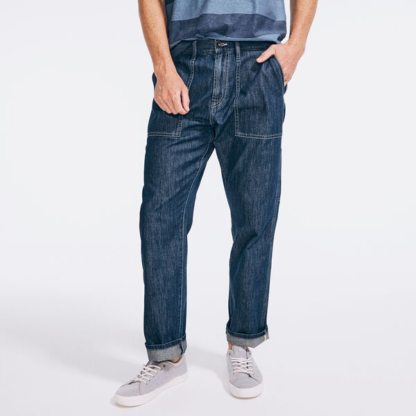 NAUTICA JEANS CO. SUSTAINABLY CRAFTED RELAXED FIT UTILITY DENIM - Peacoat