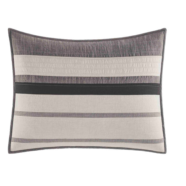 Kelsall King Pillow Sham in Charcoal - Charcoal Heather