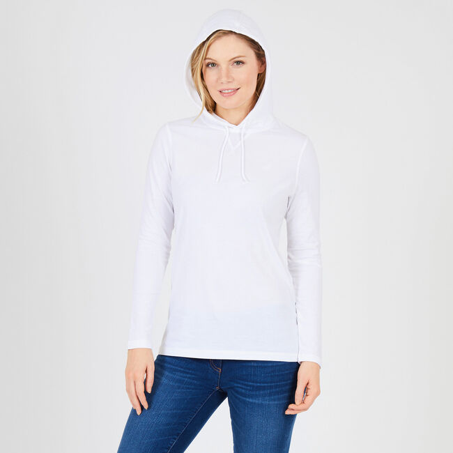 Solid Pullover Hoodie,Bright White,large