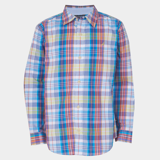 LITTLE BOYS' MAURICIO PLAID WOVEN SHIRT (4-7),Tillman Bay,large