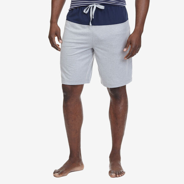 Colorblock Jersey Sleep Shorts - Fog Heather