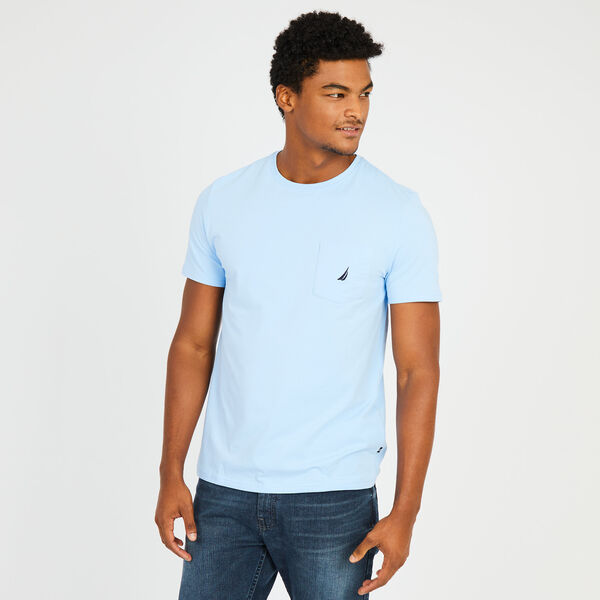 Big & Tall Active Stretch Pocket T-Shirt - Azure Blue