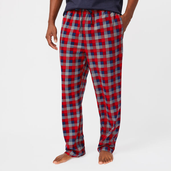 SAILING PLAID KNIT SLEEP PANTS - Nautica Red
