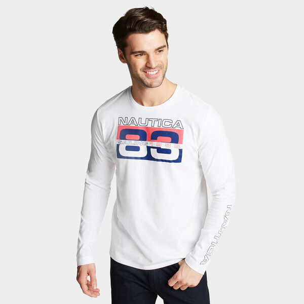 83 Sailing Long Sleeve T-Shirt - Bright White
