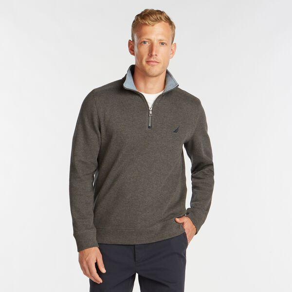 J-CLASS QUARTER-ZIP PULLOVER - Charcoal Heather