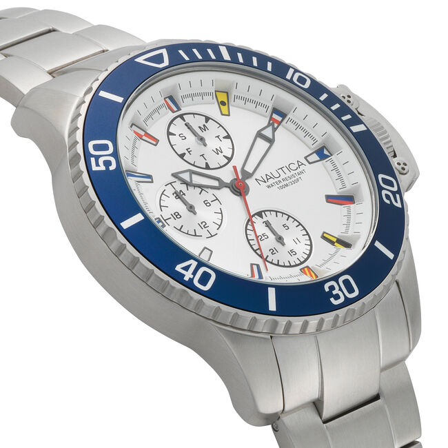 Bayside Multifunction Stainless Steel Watch,Multi,large