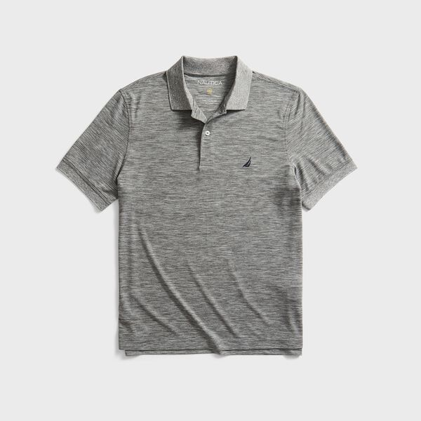 CLASSIC FIT PERFORMANCE GOLF POLO - Moorings Grey Heather