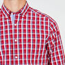 Classic Fit Long Sleeve Plaid Button Down,Nautica Red,large