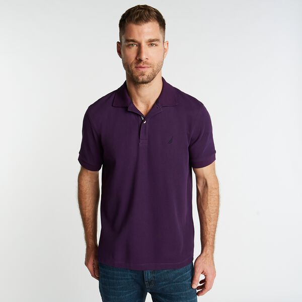 CLASSIC FIT PERFORMANCE MESH POLO - Blackberry