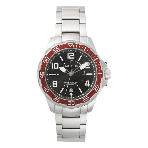 Pilot House Stainless Steel with Red Watch - Ice Grey Heather
