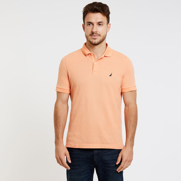 SLIM FIT MESH POLO - Orange