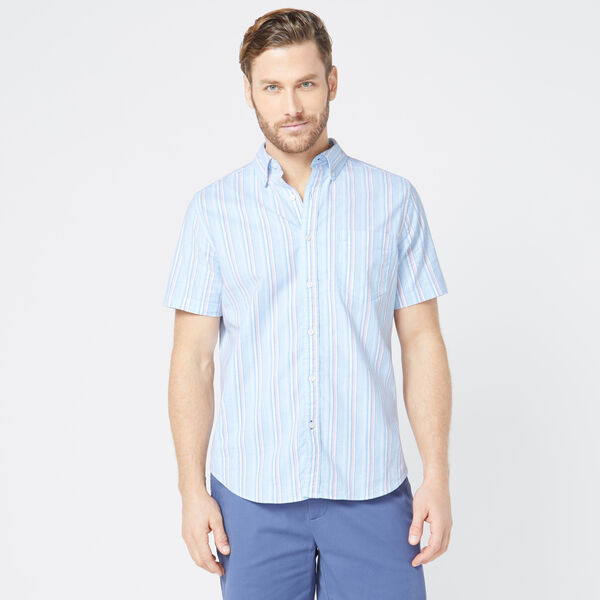 CLASSIC FIT STRIPED OXFORD SHIRT - Varsity Blue Wash