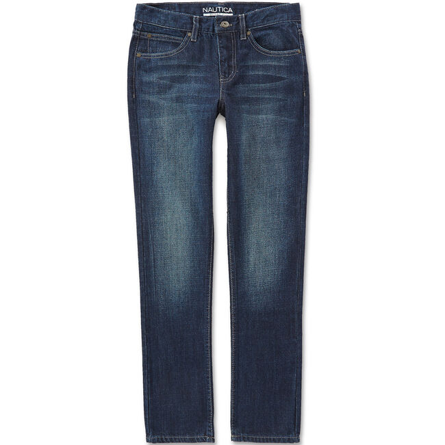 Boys' Hart Skinny Fit Jeans (8-20),Deep Navy Heather,large