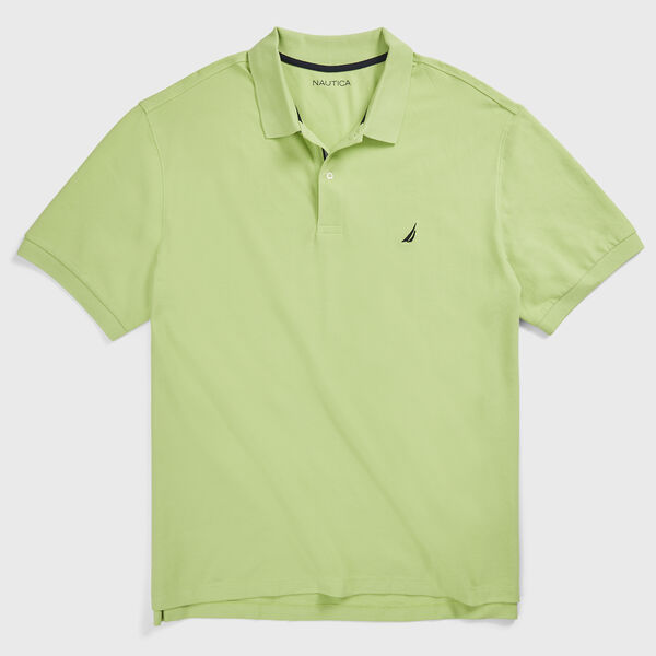 BIG & TALL STRETCH MESH POLO - Spearmint