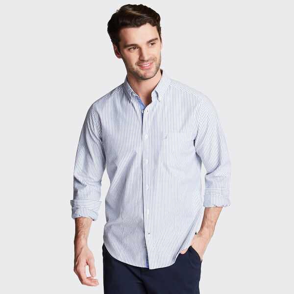 Long Sleeve Classic Fit Oxford Shirt - Blue Depths