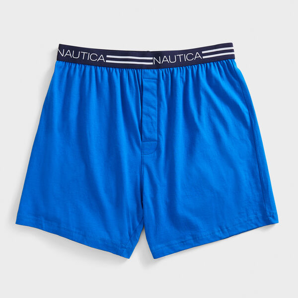 Knit Boxers - Bright Cobalt