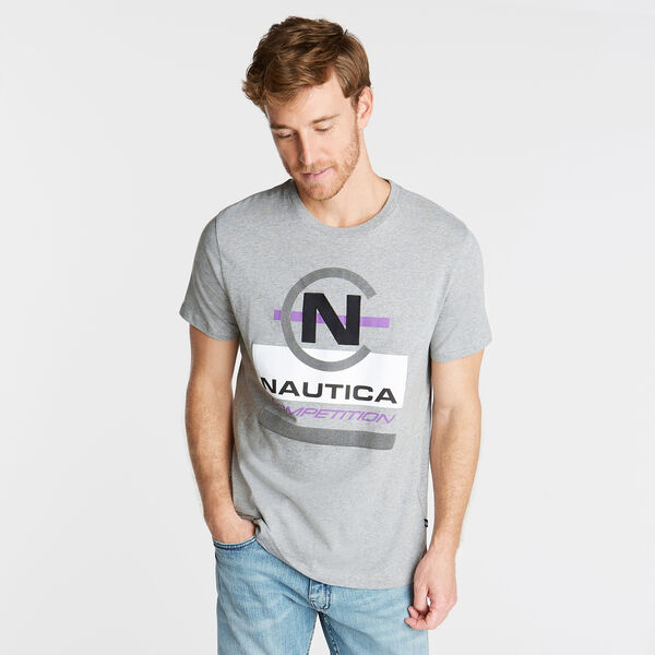 NAUTICA COMPETITION GRAPHIC T-SHIRT - Grey Heather