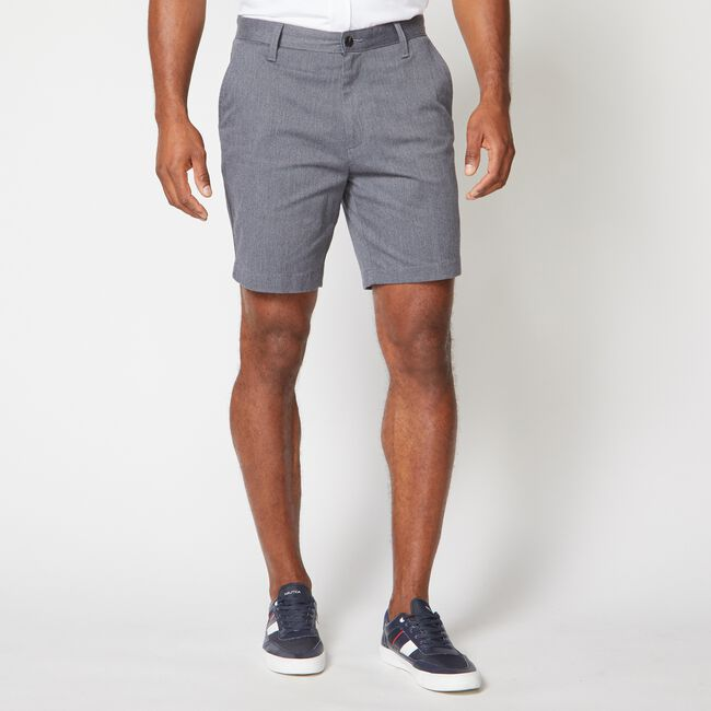 """8.5"""" CLASSIC FIT DECK SHORTS,Heather Grey,large"""