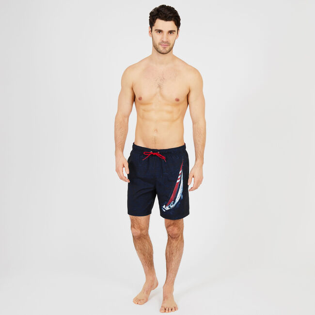 J-Class Full-Elastic Swim Trunk,Navy,large