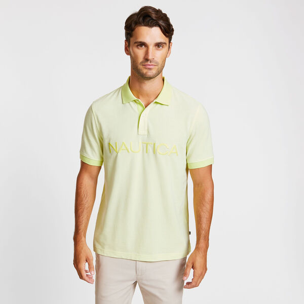 Big & Tall Kailua Short Sleeve Logo Classic Fit Polo - Light Olive