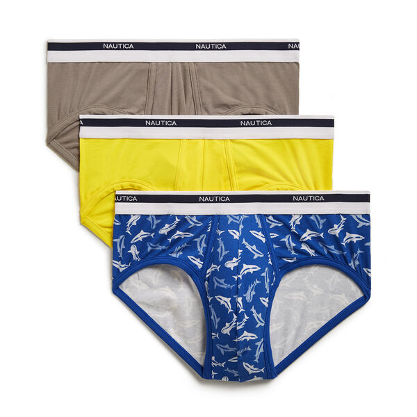 Stretch Classic Briefs, 3-Pack - Fog Heather