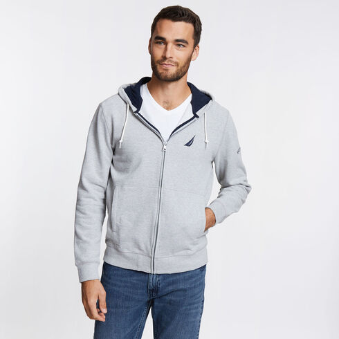 Full-Zip Signature Hoodie - Grey Heather