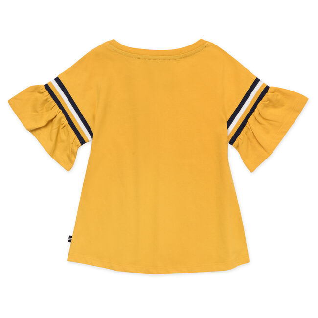 LITTLE GIRLS' SWING BODY RUFFLE SLEEVE TOP WITH CHEST LOGO (4 - 7),Sun,large