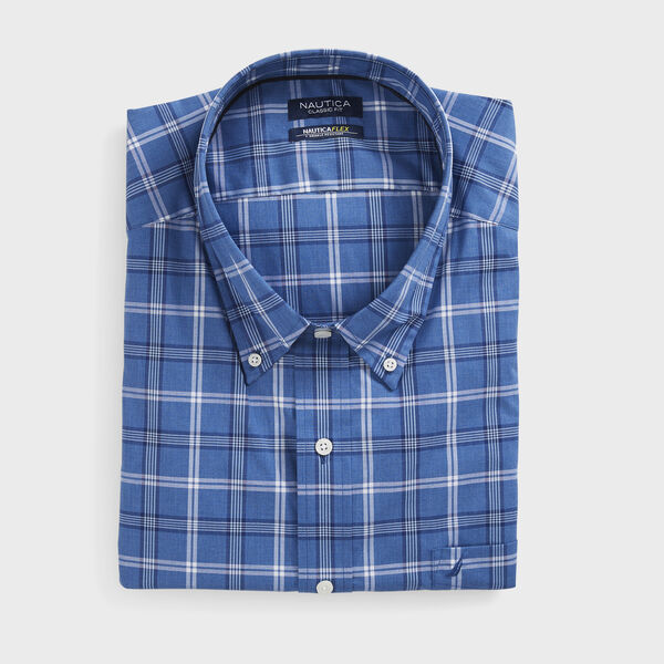 BIG & TALL CLASSIC FIT WRINKLE-RESISTANT PLAID SHIRT - Star Sapphire