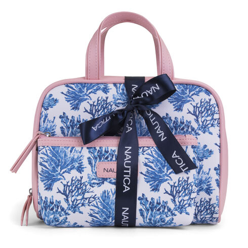 Cape Coral Toiletry Weekender 2-Piece Set - Coral Cape
