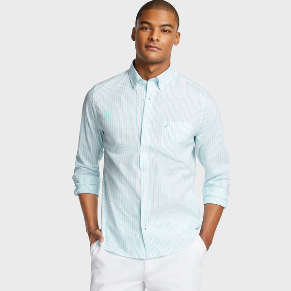 SLIM FIT WRINKLE-RESISTANT SHIRT IN STRIPE - Bali Bliss