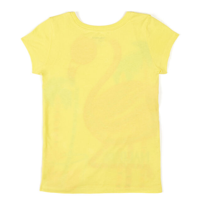 Toddler Girls' Flamingo Tee (2T-4T),Yellow (nrma Code),large
