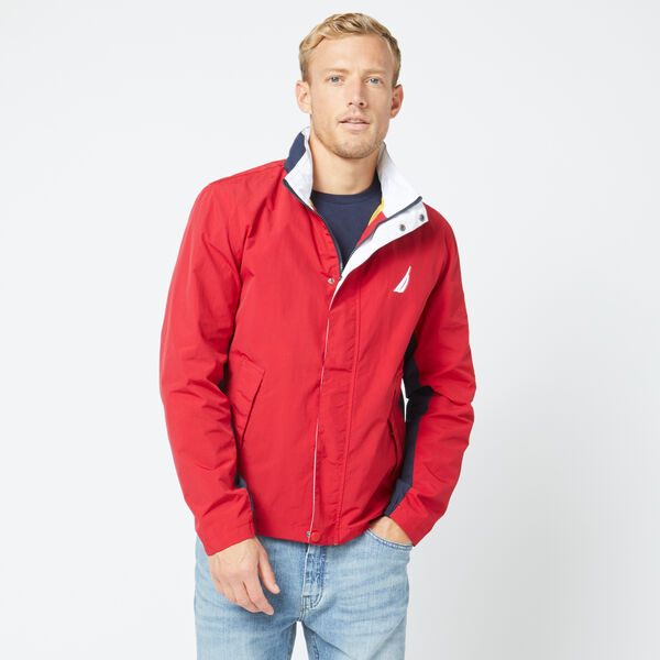 LIGHTWEIGHT COLORBLOCK HERITAGE BOMBER JACKET - Nautica Red
