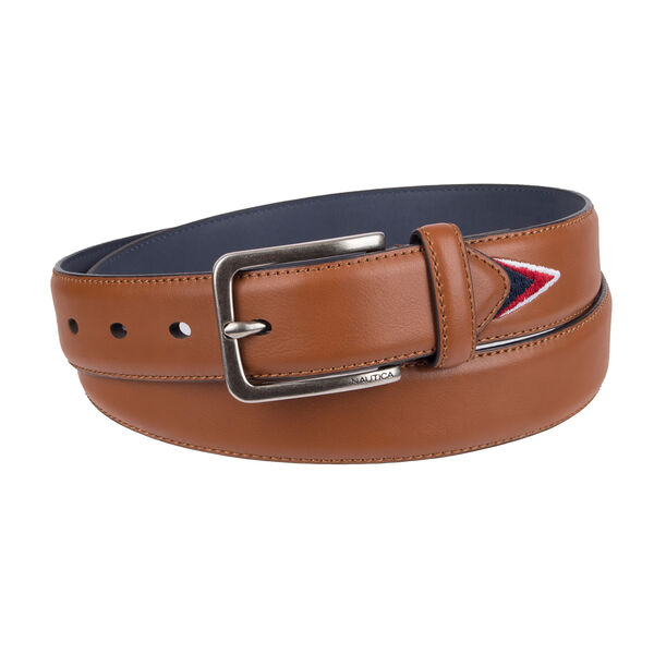 Belt With Embroidered Lining - Brown Stone