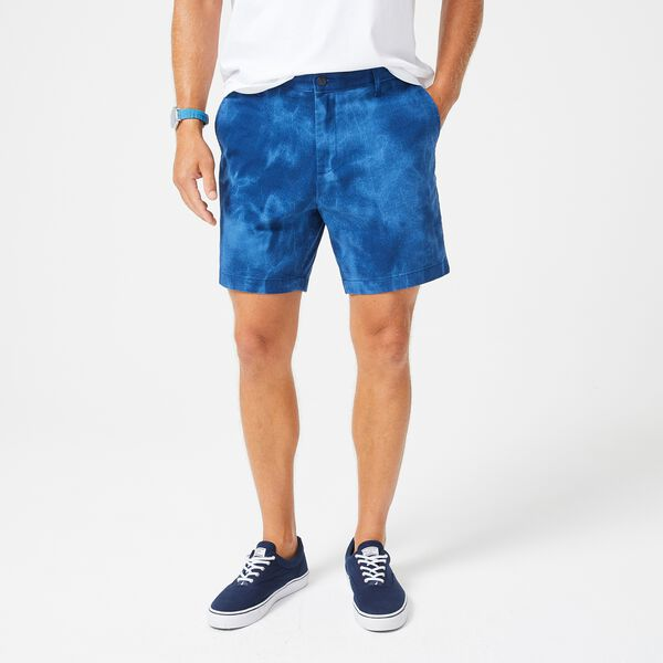 "6"" DISTRESSED PRINT SHORT - Estate Blue"