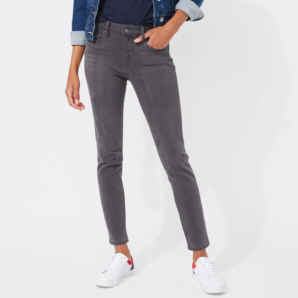NAUTICA JEANS CO. MID RISE SKINNY DENIM IN GREY SHADOW - Gunmetal Grey