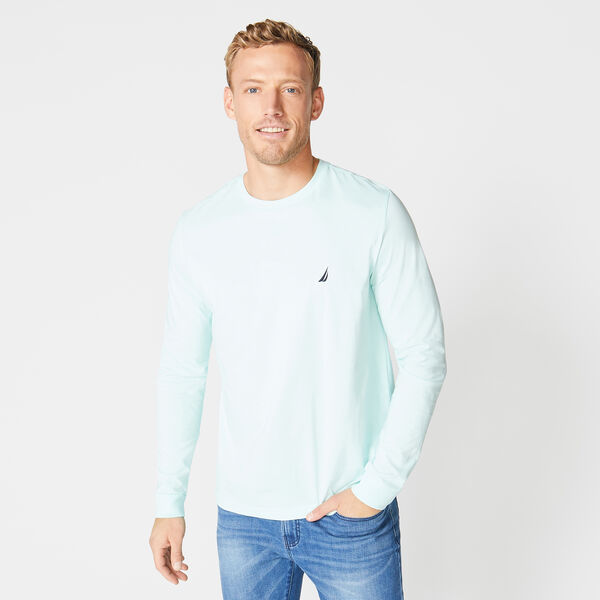 CREW NECK LONG SLEEVE TEE - Aquabreeze