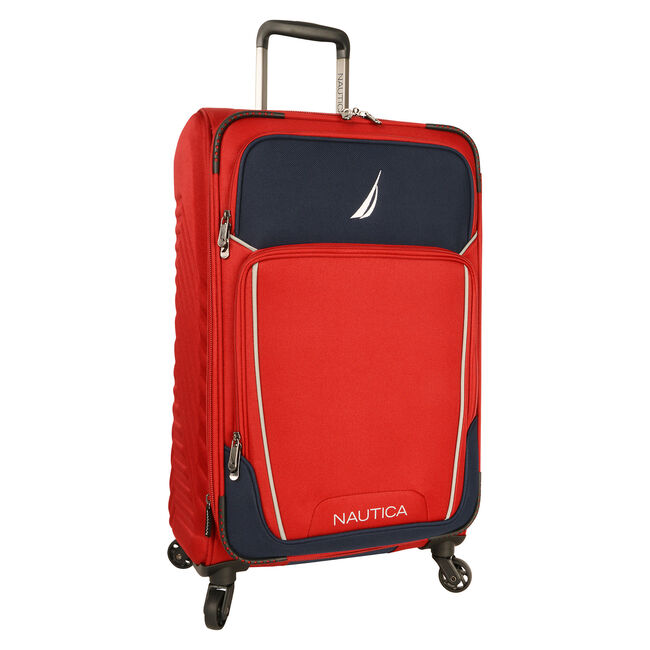 "Dockyard 24"" Expandable Spinner Luggage,Sailor Red,large"