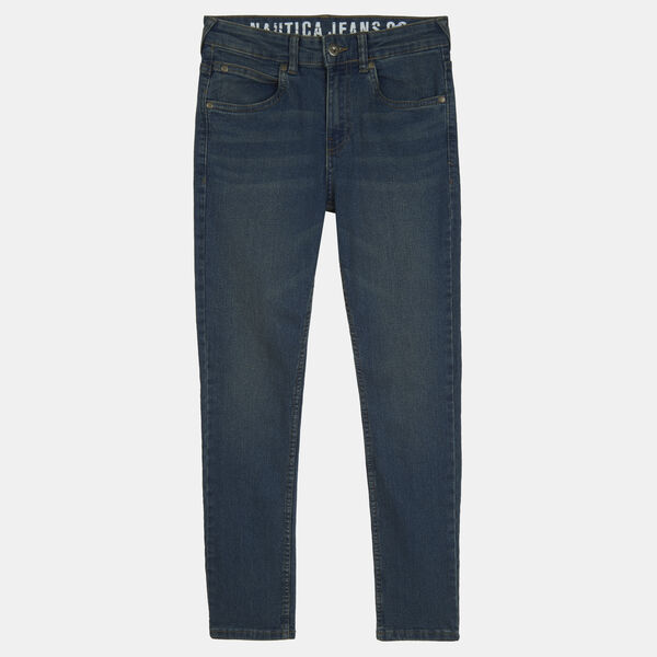 LITTLE BOYS' SKINNY-FIT DISTRESSED JEANS (4-7) - Starlight Blue